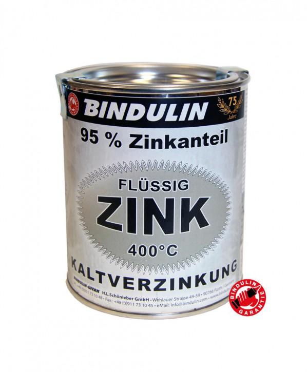 Flüssig Zink 250 ml Dose von Bindulin für Kaltverzinkung für alle Metalle zum Kaltverzinken auf elektrochemischer (galvanischer) Basis: grundieren, verzinken gebrauchsfertig, schnelltrocknend