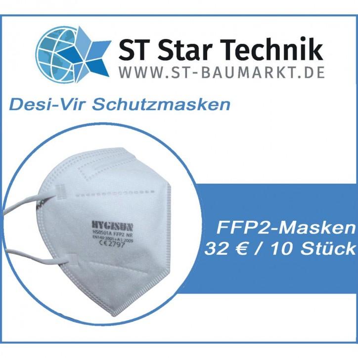 10 Stück Desi-Vir Schutzmasken: FFP2 Mund-Nasen Maske für den persönlichen Schutz