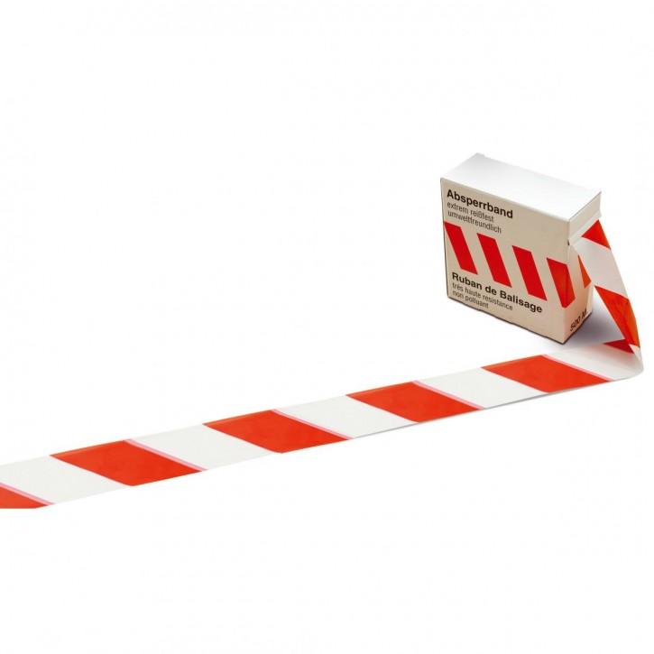 Kip Absperrband: Flatterband rot- weiß