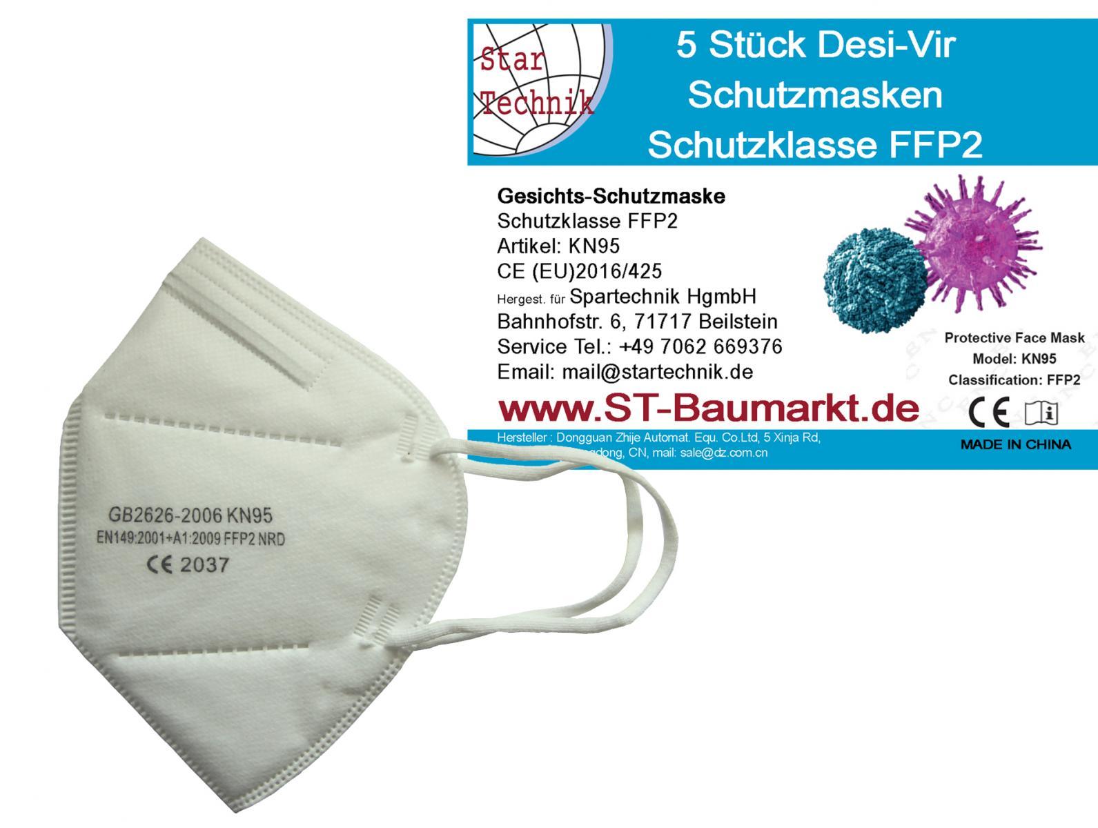 Schutzmasken Schutzklasse FFP2 Gesichtsschutzmaske