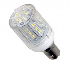 30 SMD IP LED Lampe mit Schutzkapsel, IP65 für BAY-15D Sockel.