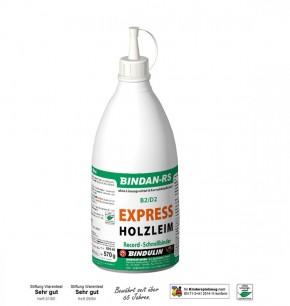 Bindan-RS EXPRESS Holzleim B2 D2 Klebstoff Kunstharzleim Schnellbinder 570 Gramm Flasche