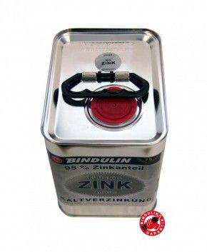 Flüssig Zink 2,5 Liter Kanister Dose von Bindulin für Kaltverzinkung für alle Metalle zum Kaltverzinken auf elektrochemischer (galvanischer) Basis: grundieren, verzinken gebrauchsfertig, schnelltrocknend