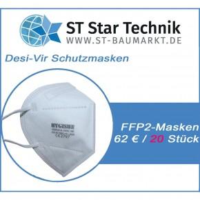 20 Stück Desi-Vir Schutzmasken: FFP2 Mund-Nasen Maske für den persönlichen Schutz