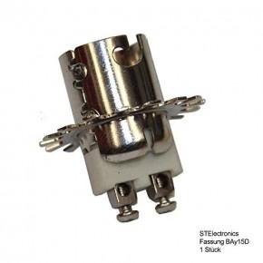 Sockel für Lampe Positionslampe BAY-15D rund