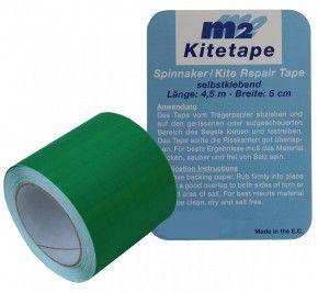 M2 Kitetape - selbstklebendes Spinnaker Reparatur Tape für dünnes Spinnaker Segel Textilien Flicken Band - Nylon 5cm x 4,5 Meter - grün