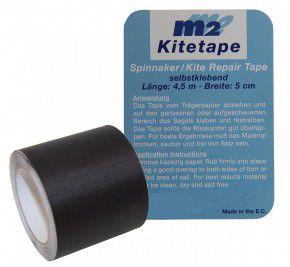 M2 Kitetape selbstklebendes Spinnaker Reparatur Tape schwarz