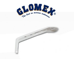 Aluminium Masthalterung 0von Glomex RA106 (Glomex) VHF UKW Seefunk Antennen weiss