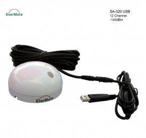 Evermore SA-320 USB: Marine 12 Kanal GPS Satelliten Empfänger,  -143dBm